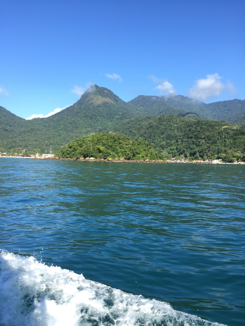 Approaching the island